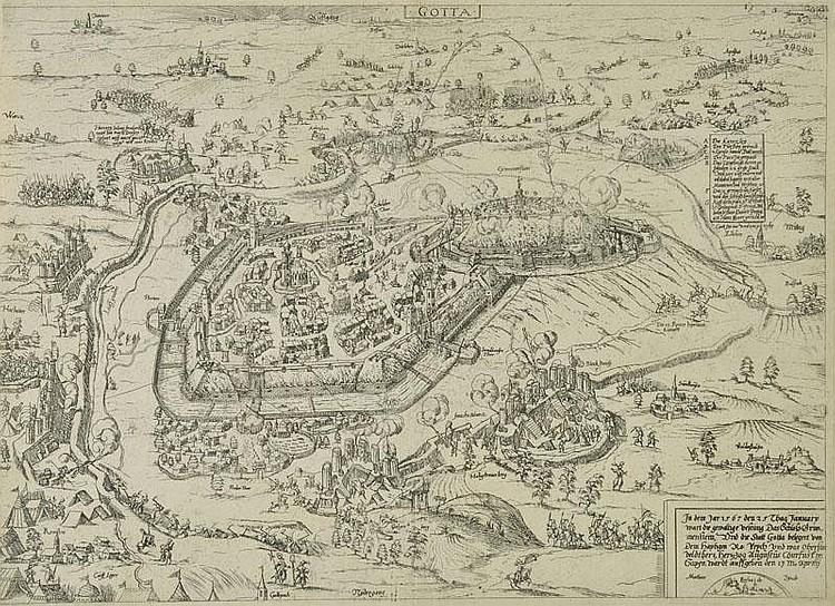 Zundt (Mathis, 1498-1572). The Siege of Gotha