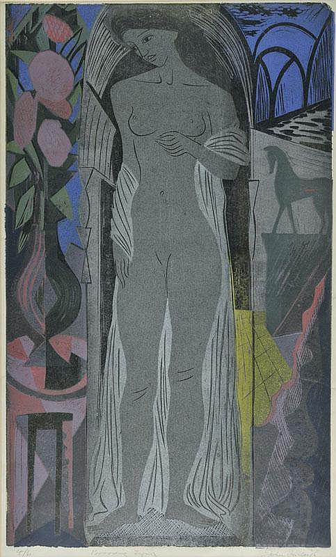 Farleigh (John, 1900-1965). Brooding Figure,