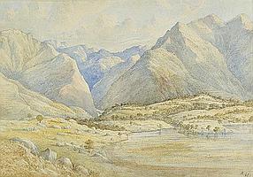 Patten (Alfred Fowler, 1829-1888, attrib.). Valley