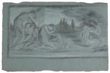* De Morgan (Evelyn, 1855-1919). Compositional study for By the Waters of Babylon,