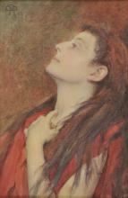 * Rheam (Henry Meynell, 1859-1920). Study of a Head, March 1894,