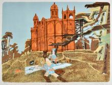 * Rosoman (Leonard H., 1913-2012). The Gothick Temple, Stowe, 1974,