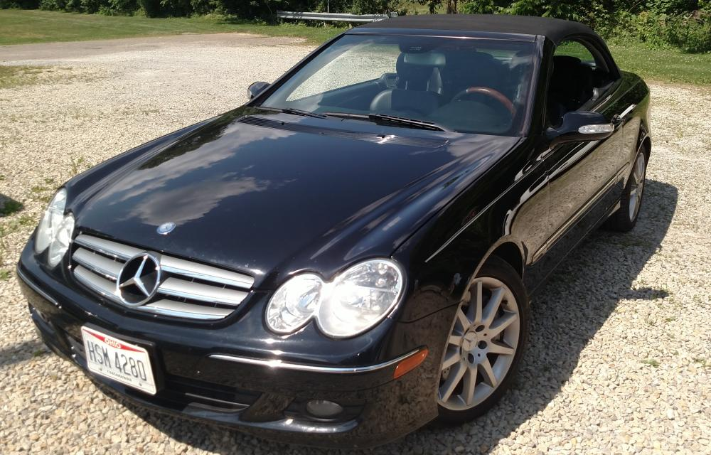 2007 Mercedes Benz CLK 350, convertible, 89,771 miles - has been housed inside under a car cover for last 18 months- excellent condition