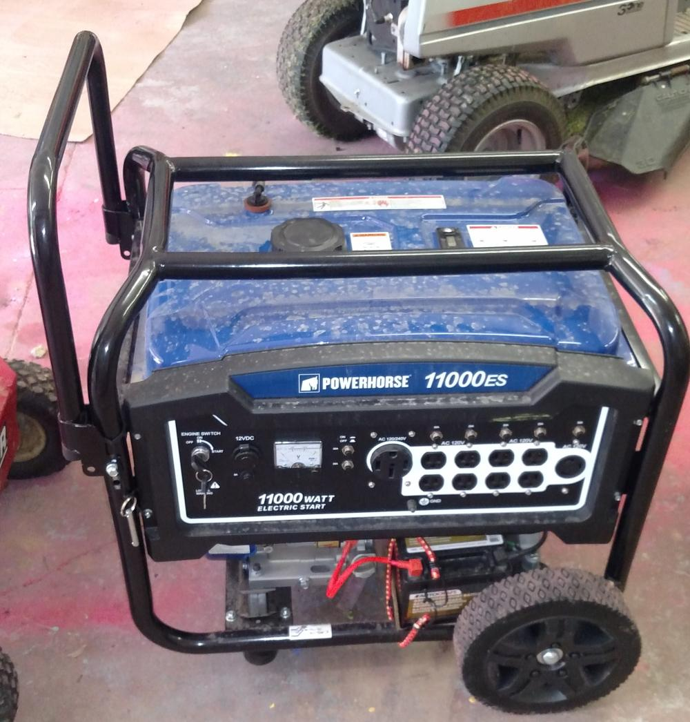 powerhorse 11,000es generator- works good