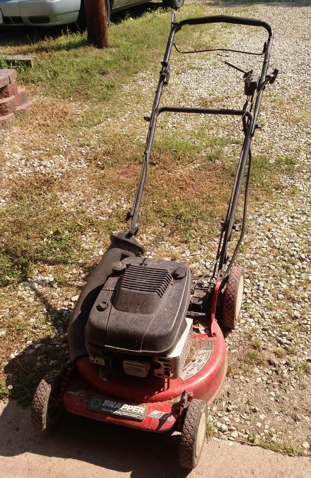 snapper ninja trim mower-- needs a little work