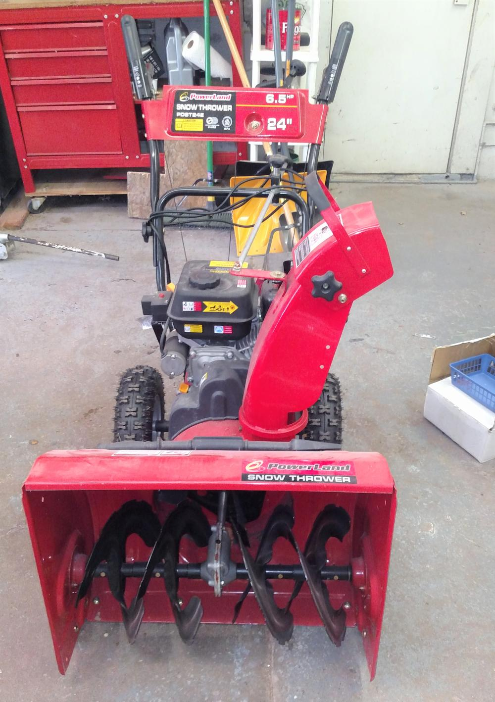 "powerland snow thrower 6.5hp, 24"", PDST24E"
