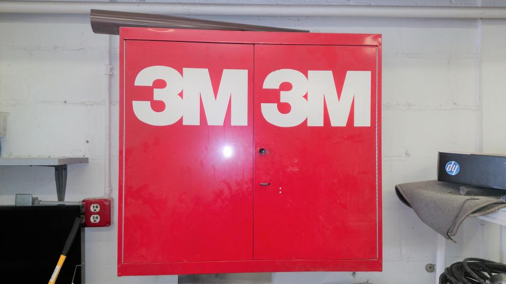 "3M hanging tool box- metal 33"" wide, 30""tall, 12"" depth-- cabinet only"
