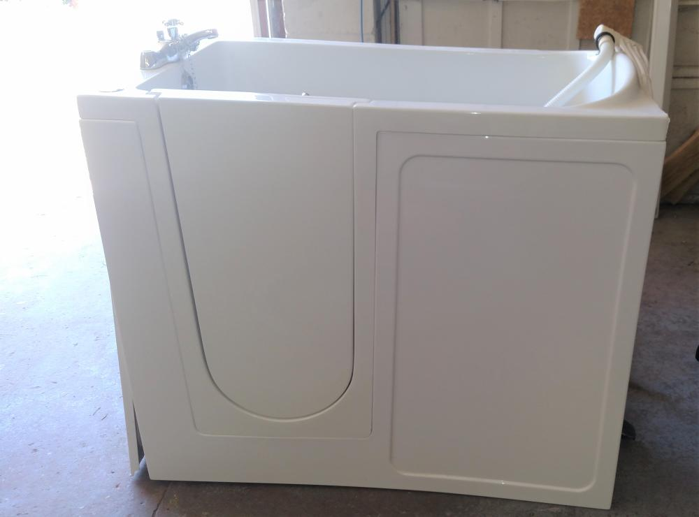 "handicap access walk in tub ( door swings in) 28"" wide, 41"" tall"
