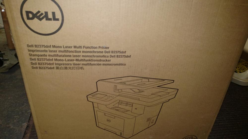 dell mono lazer printer in box--model b2375dnf