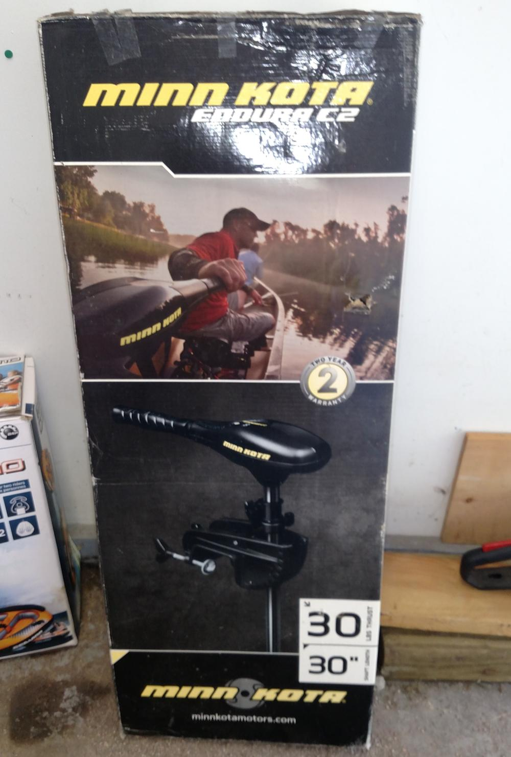 minn kota endura c2 trolling motor- never out of box