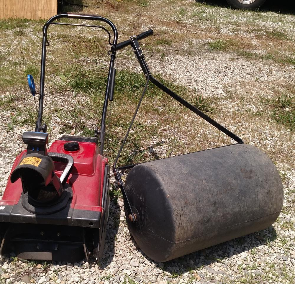 toro snow blower and lawn roller