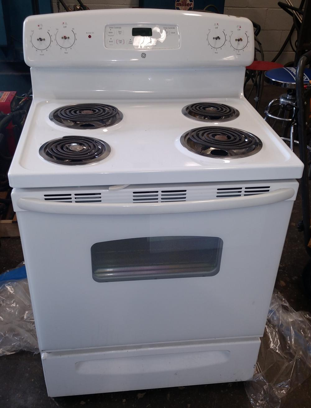 ge electric range- no knobs