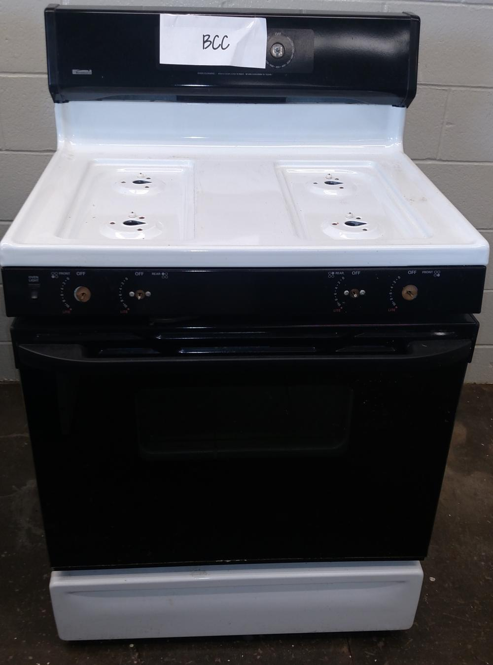 kenmore gas range-- no knobs