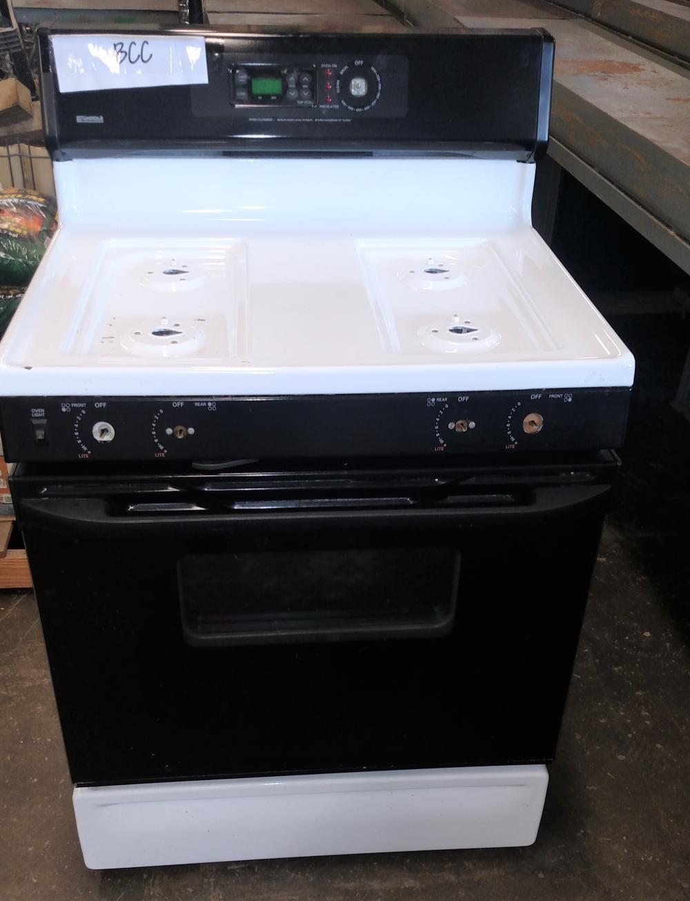 kenmore gas range- no knobs