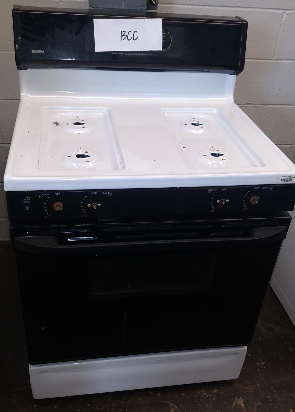 kenmore gas range--no knobs