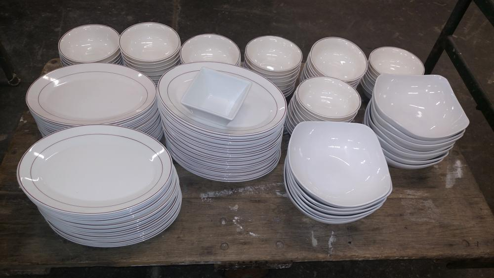 dishes-- plates and bowls