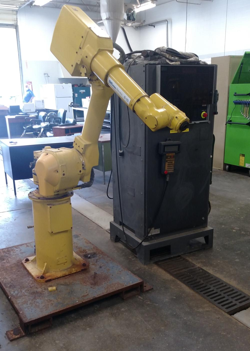 GMFanuc robotics karel s-10 robotic arm with control panel (operating condition unknown)