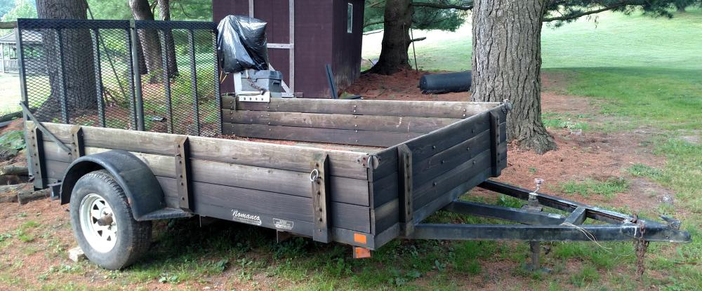10 ft. x 6.5 ft Nomanco Utility trailor with tailgate winch