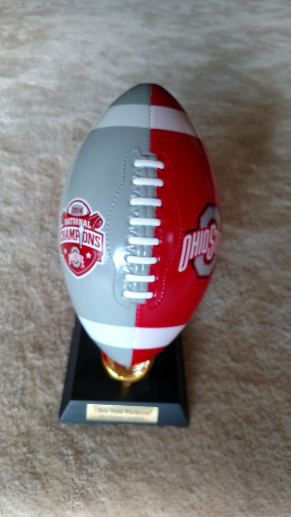 Ohio State Buckeyes 2014 National Championship commemorative ceramic football