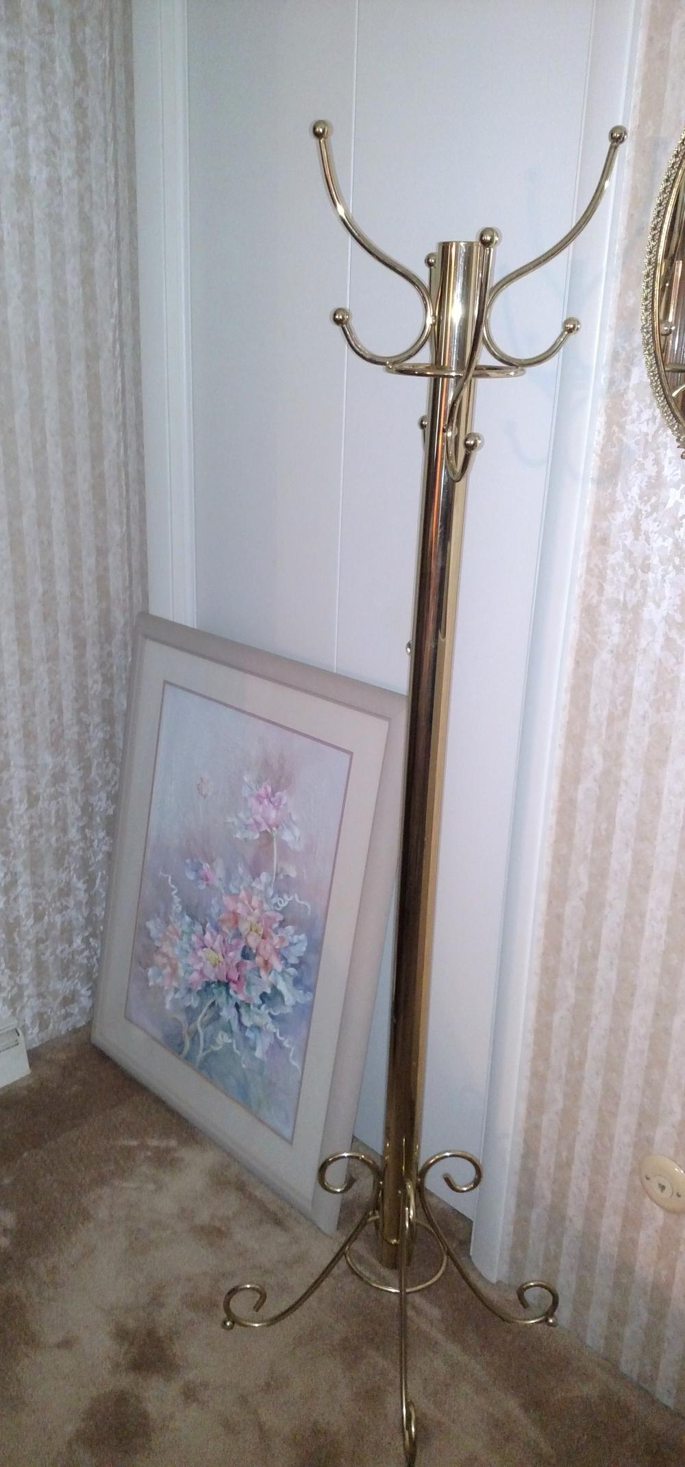 hall tree and flower picture