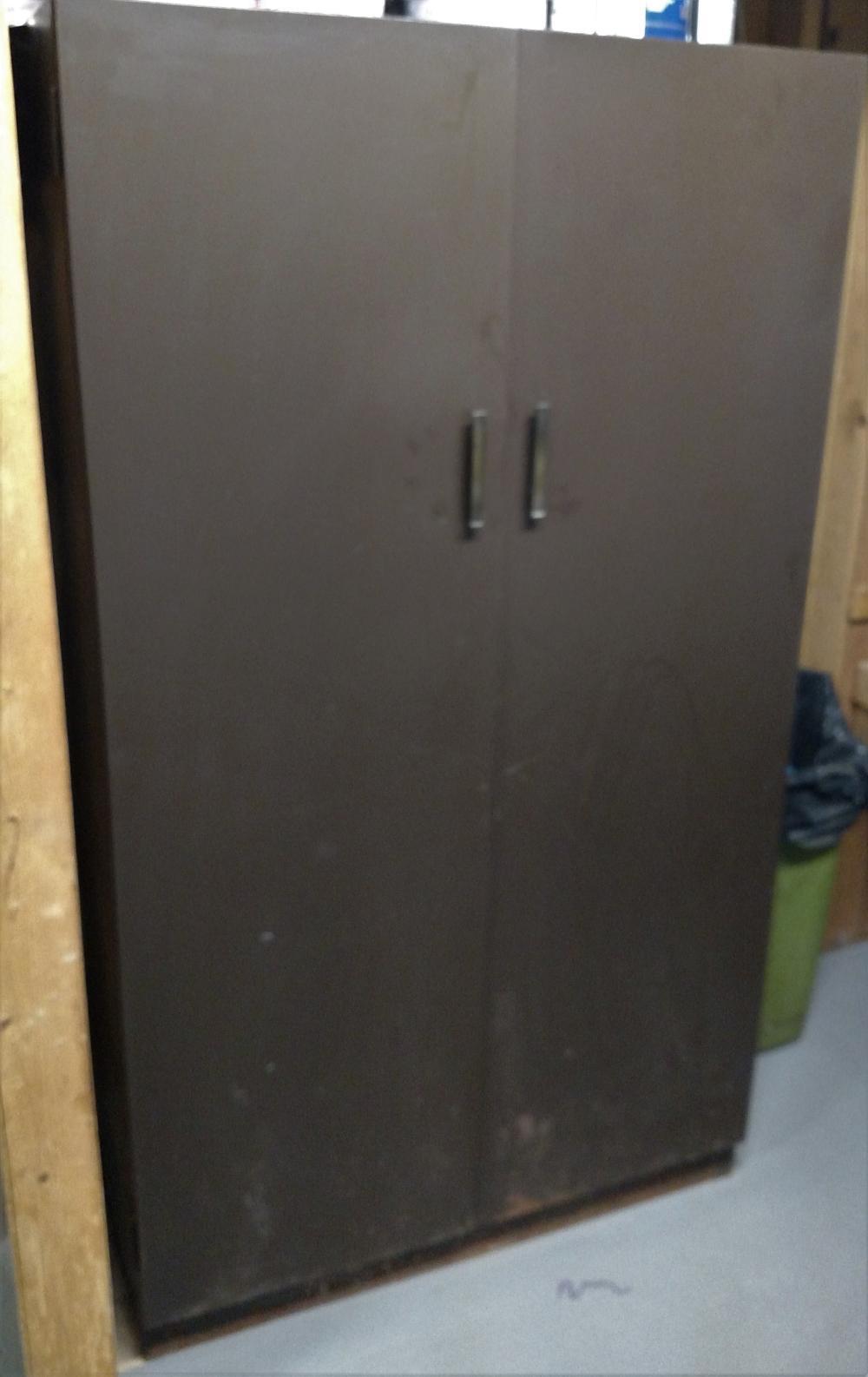 double door metal wardrobe