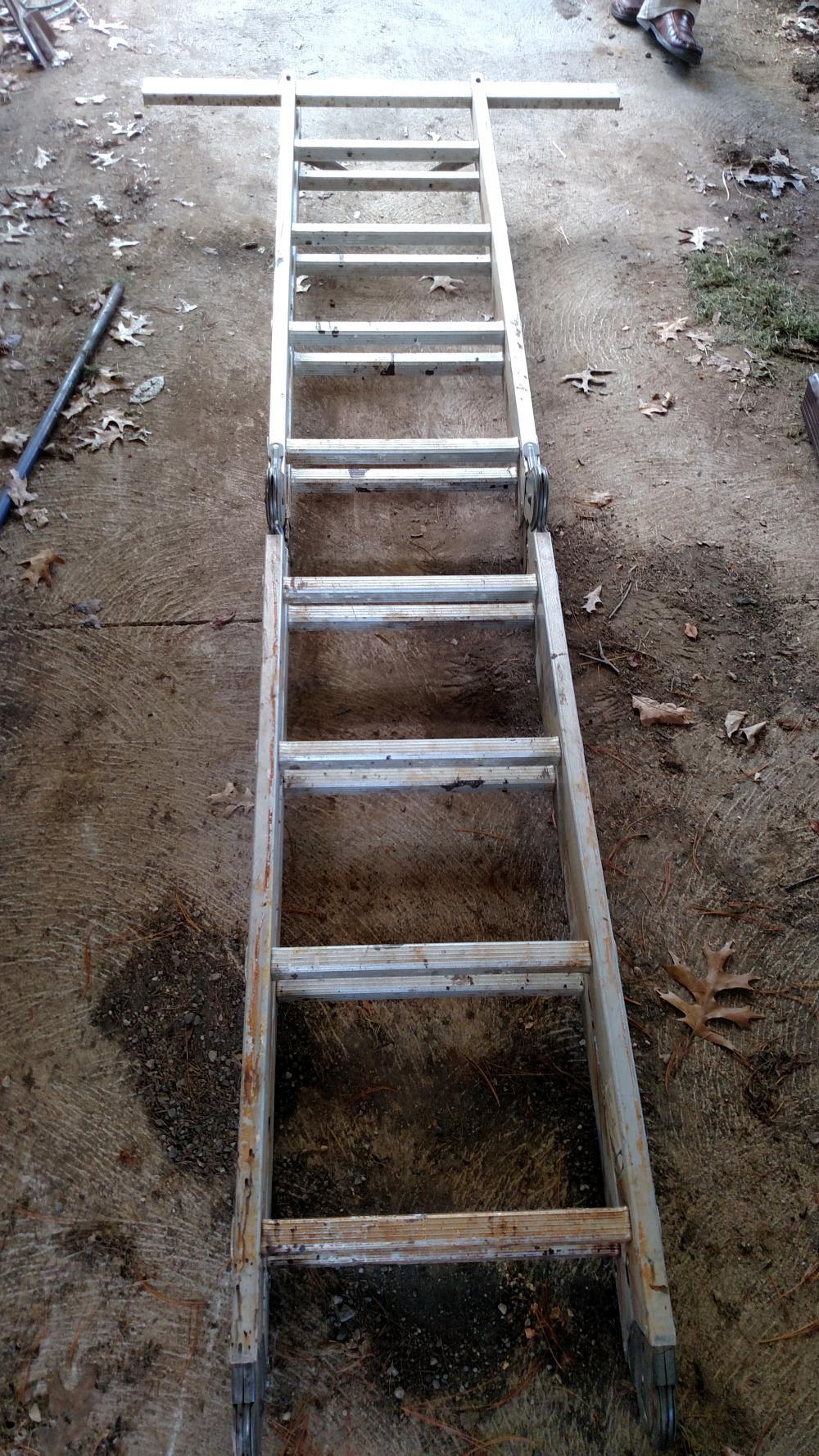 aluminum adjustable ladder