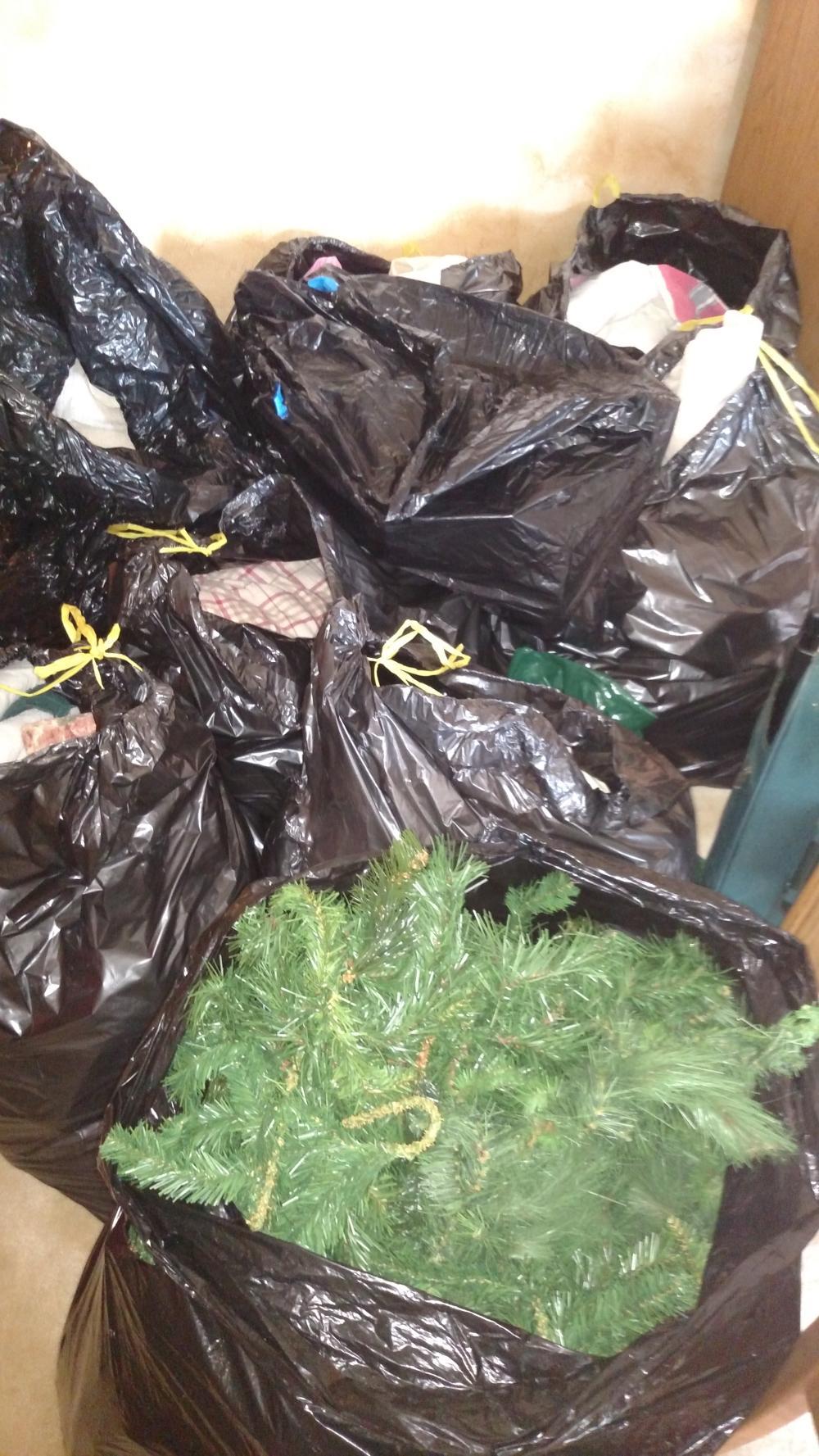 Christmas/bedding job lot and 2 Christmas totes