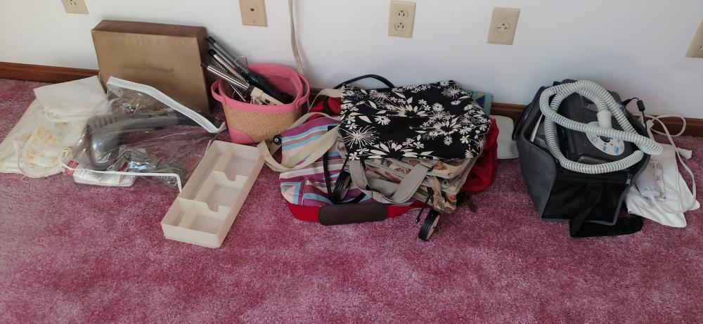 massager, bags, curling irons, phillips respironics,misc