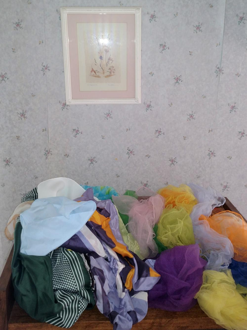 assorted scarves and small picture