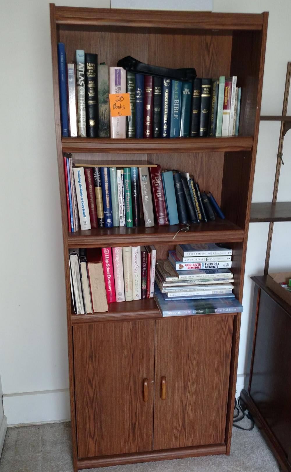 "bookshelf unit - 28"" wide, 72"" tall, 12"" deep"