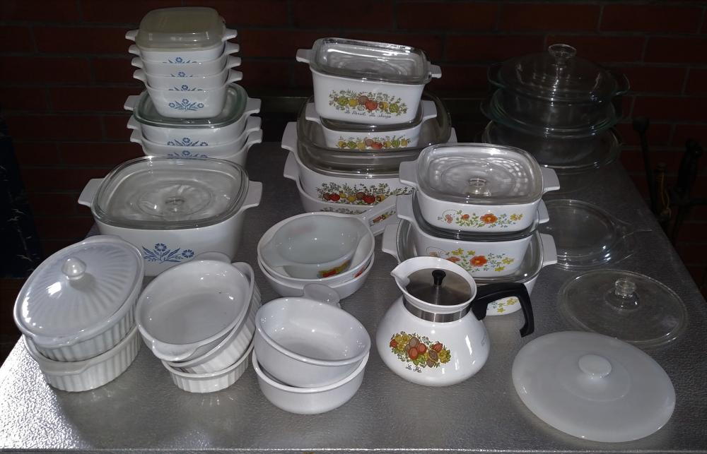 corningware package plus other glass bakeware