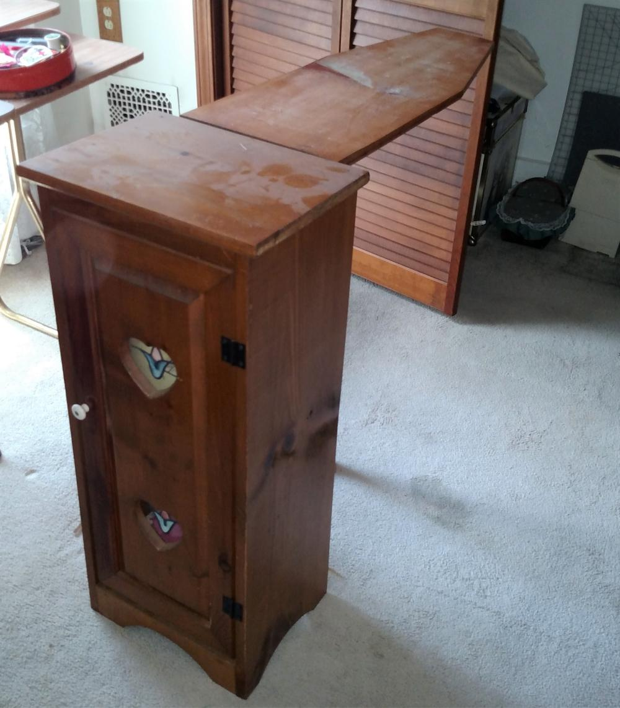 wood folding ironing board cabinet