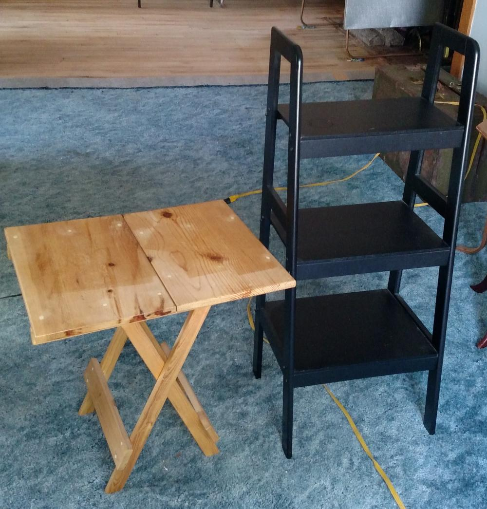3 tier stand and folding tv tray