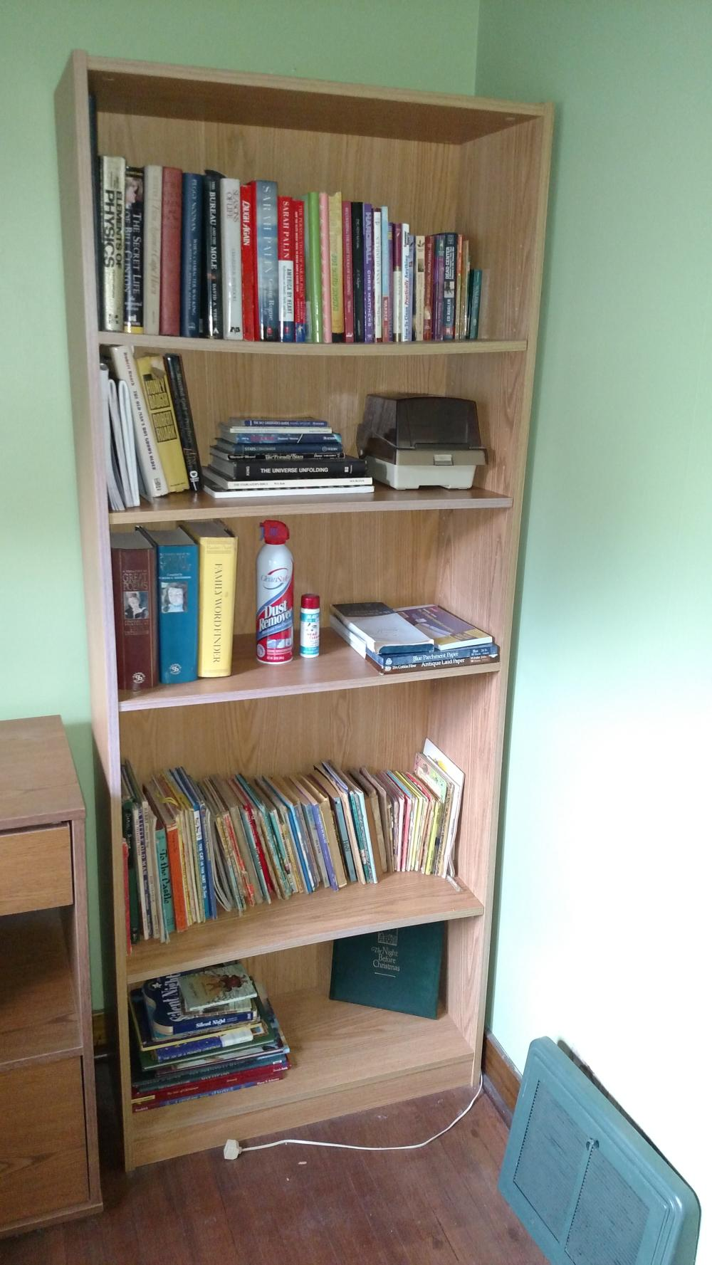 "bookshelf unit-- 72"" tall, 29"" wide, 12"" deep"