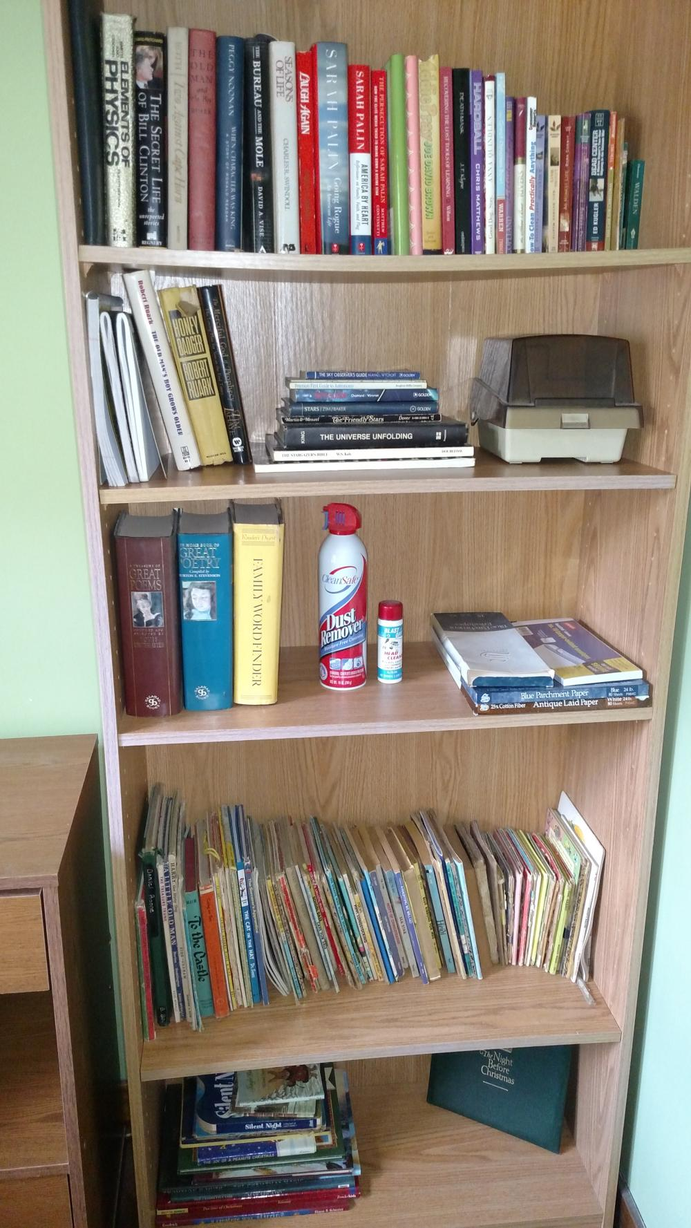 books-- mostly religious and childrens- books only