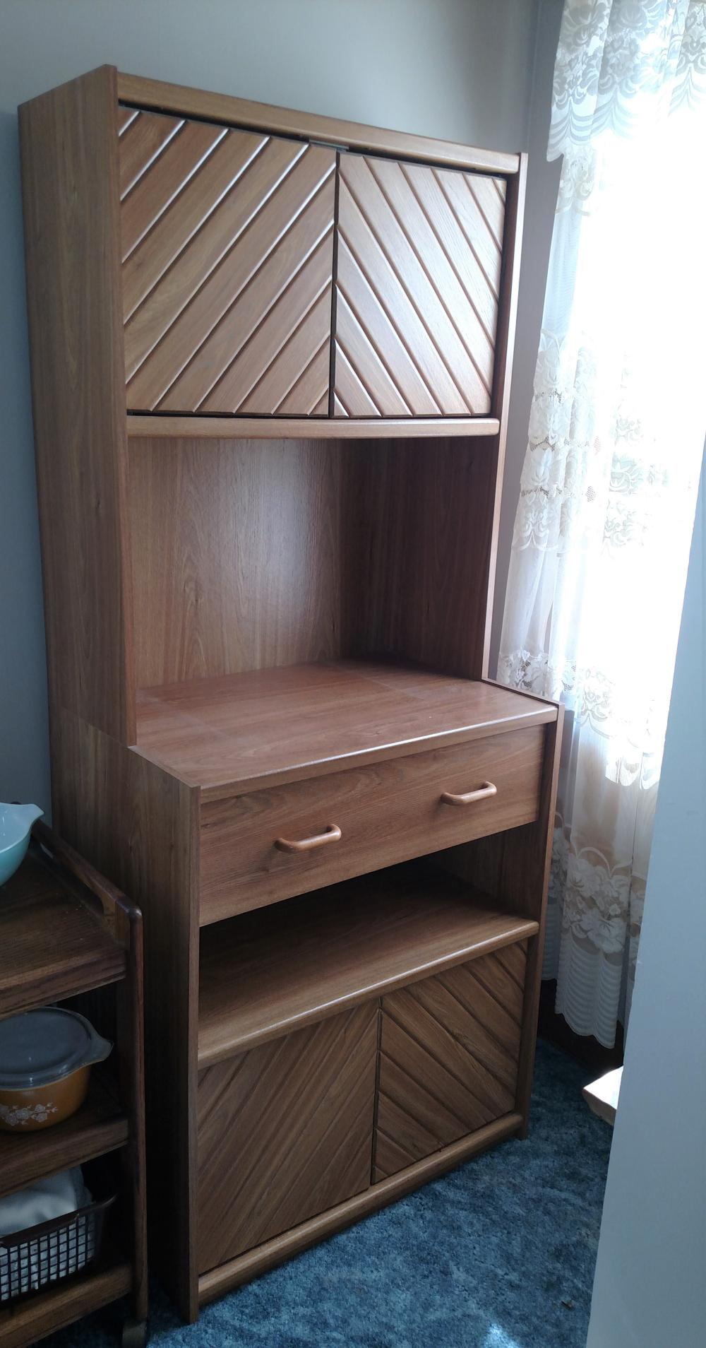 "cupboard w/ drawer - 30"" wide, 70"" tall, 20"" deep"
