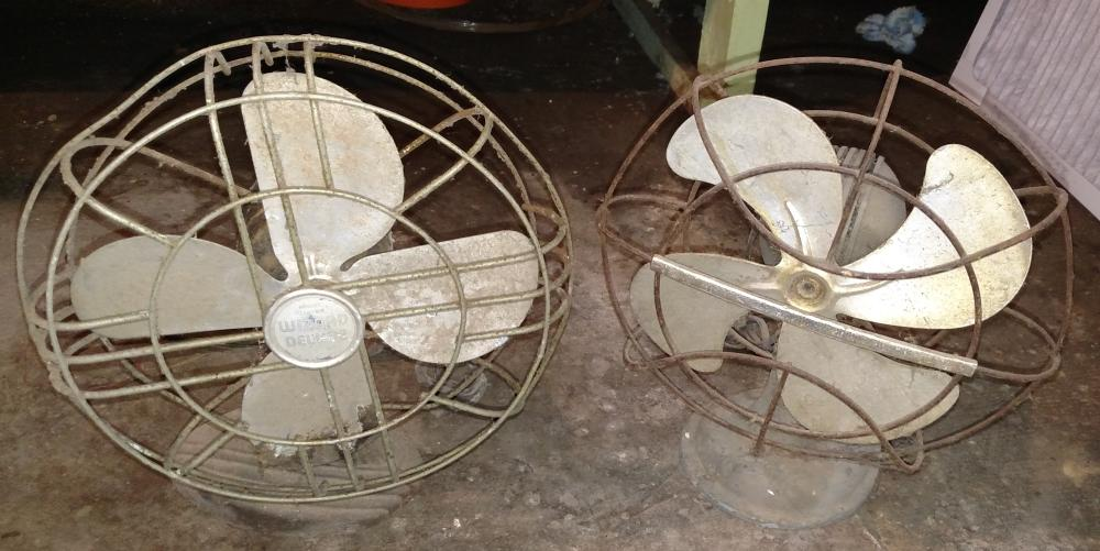 2 early fans-- 4 blade- westinghouse and wizard deluxe