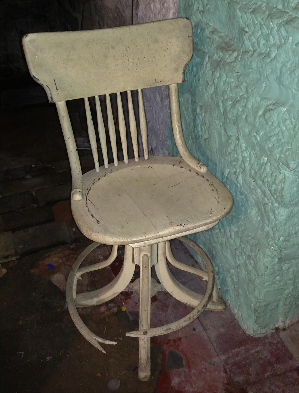 swivel wood chair- broken base
