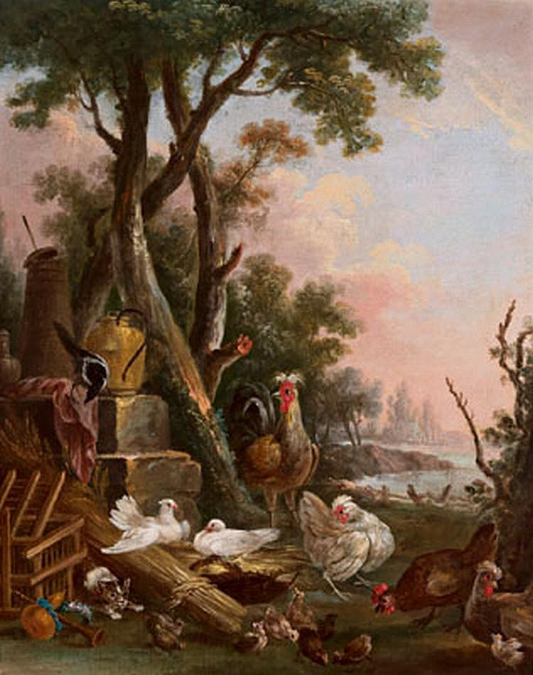 Old Master Painting: Christophe Huet (Paris 1700 -