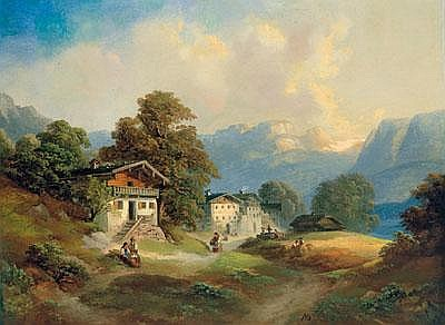 Franz Barbarini (Znaim 1804-1873 Wien) Mountain
