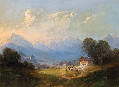 Franz Barbarini (Znaim 1804-1873 Wien) Blick auf