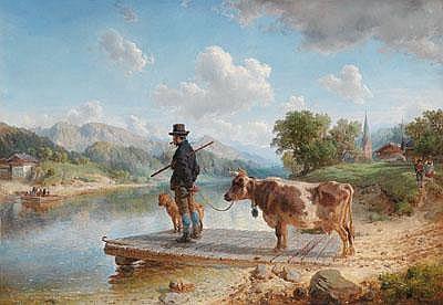 Hermann Kauffmann (Hamburg 1808-1889) Warten auf