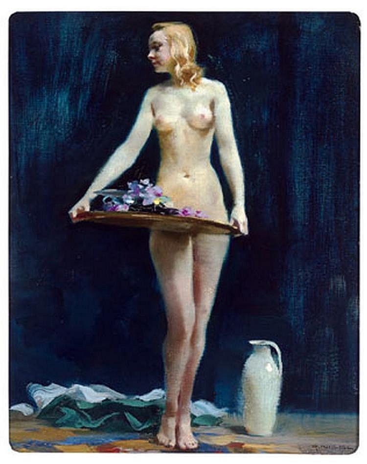 Rudolf Nissl (Füge 1870-1955) Woman carrying