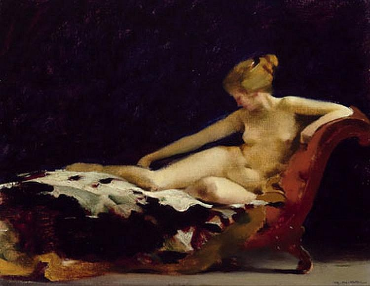 Rudolf Nissl (Füge 1870-1955) Reclining female