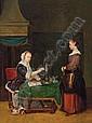 Frans van Mieris (Leiden 1635-1681) Schule, Frans Van, The Elder Mieris, Click for value