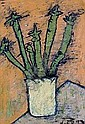 Bohomil Samuel Kecir  (Brno 1904-1987) Cactus, signed and dated Kecir 73, oil on cardboard, 58 x 40 cm, framed, (PM)  Estimate: E2200-2800 EURO, Bohomil Kecir, Click for value