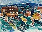 Gustav Hessing (Czernowitz 1909-1981 Vienna) Houses, signed G. Hessing, watercolour on paper, sight area 42 x 54 cm, framed, (K) Estimate: E1300-2000 EURO