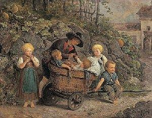 19th century Paintings/Watercolours by:  Josef Buche E3.000-3.500