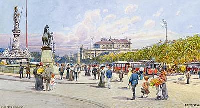 Erwin Pendl(Vienna 1875-1945) Franzen's Ring,