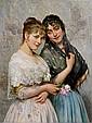 Eugen von Blaas(Albano 1843-1932 Venice) Two, Eugen